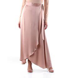 Maliparmi Gonna lunga color nude - Rosa