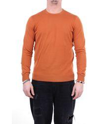 Drumohr Pull à col rond couleur - Orange