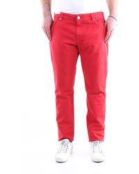 PT Torino Pantalones vaqueros rectos - Rojo