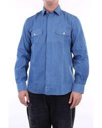 LOWBRAND Shirts toile de jean - Bleu