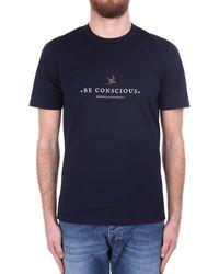 Brunello Cucinelli T-shirt manica corta - Blu