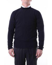 Giorgio Armani Jersey de cuello redondo en azul medianoche