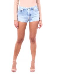 Heron Preston Mini short en jean léger - Bleu
