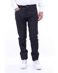 Michael Coal Jeans scuro 5 tasche in cotone stretch - Nero