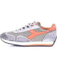 Diadora Zapatillas equipe h dirty stone wash evo gris y naranja - Blanco