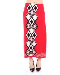 VIKI-AND Trousse falda - Rojo