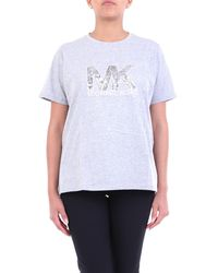 MICHAEL Michael Kors Camiseta de manga corta con lentejuelas - Gris