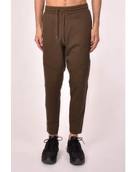 C.P. Company C.p. company pantaloni in felpa diagonal raised fleece zip pocket - Vert