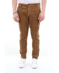 Yan Simmon Pantalone chinos in velluto a costine - Marrone