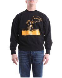 Aries Sweat-shirts à col rond - Noir