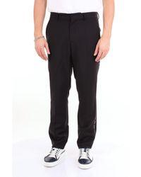 Burberry Pantalon de costume classique en laine et mohair avec logo - Noir