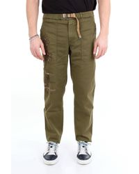 Whitesand 88 Pantalon de couleur unie sable blanc 88 avec imprimé contrasté - Vert