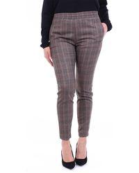 Alpha Studio Pantalone chino color cammello e nero - Multicolore