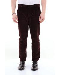 26.7 Twentysixseven Pantalon en velours lisse avec revers - Multicolore
