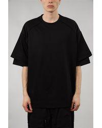 Juun.J T-shirt con stampa in cotone - Noir