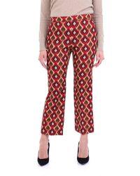 Maliparmi Pantalone classico fantasia - Rosso