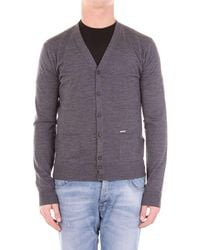 DSquared² Trousse cardigan - Grau