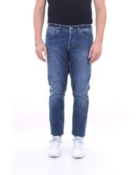 Dondup Jean coupe skinny george 5 poches - Bleu