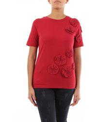 Alpha Studio - T-shirt maniche corte di colore bordeaux - Lyst