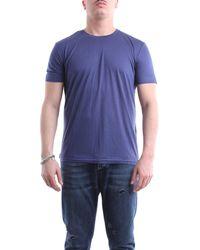 Paolo Pecora T-shirt à manches courtes en couleur - Bleu
