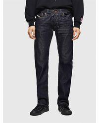 DIESEL Straight, regular waist, button-fly, denim stretch - Blu