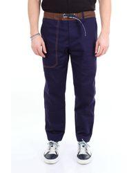 Whitesand 88 Pantalon 88 sable blanc avec ceinture et poches latérales - Bleu