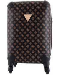 Guess Wilder twp74529430 trolley piccolo con stampa 4g e logo peony all over - Marrón