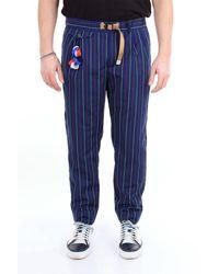 Whitesand 88 Pantalon à rayures multicolores sable blanc 88 - Bleu