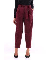 PT Torino Pantalon chino couleur - Rouge