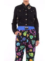Versace Jeans Couture Chaqueta vaquera negra - Negro