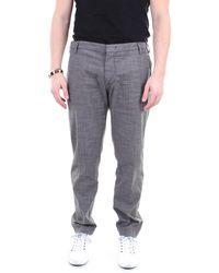 Entre Amis Pantalon gris à motifs