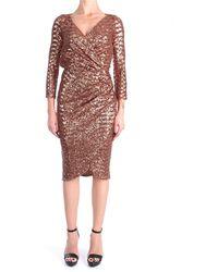 Elisabetta Franchi Ab00111e2 abito corto paillettes - Metallizzato