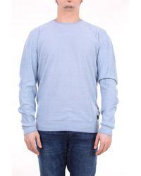 Replay Jersey con cuello redondo en color - Azul