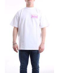 Aries - T-shirt con maniche corte di colore bianco - Lyst