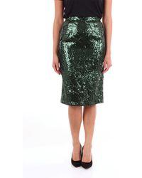 N°21 N ° 21 falda midi verde esmeralda