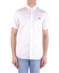 Fred Perry Camisas casual - Blanco
