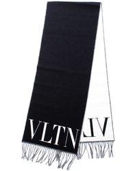 Valentino Valentino garavani wy2er033ptx sciarpa vltn con logo - Negro