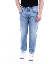 Haikure Vaqueros capri de corte slim con 5 bolsillos - Azul