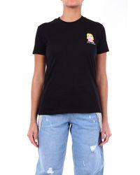 Chiara Ferragni - T-shirt manica corta di colore nero - Lyst