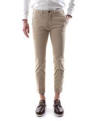 40weft Pantalone chinos con vestibilità skinny, realizzata in morbida e leggera gabardina di cotone leggermente stretch - Neutro