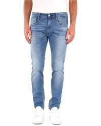 Replay Pantalones vaqueros delgado - Azul