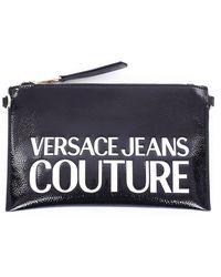 Versace Jeans Couture E clutch mit reißverschluss - Schwarz