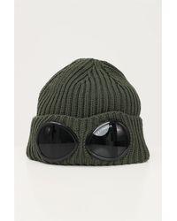 C.P. Company Cuffia goggle lana verde militare