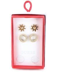 Guess Jubs20008jw box set orecchini (confezione da 2) placcati oro - Mettallic