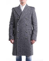 Balmain Abrigo en blanco y negro - Gris
