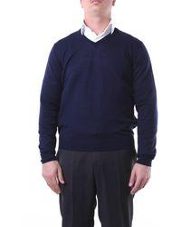 Della Ciana Jersey azul marino con cuello de pico