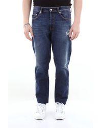 Love Moschino Jeans 5 tasche con destroyed - Blu