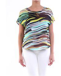 Manila Grace Blusa multicolor con maniche corte - Multicolore