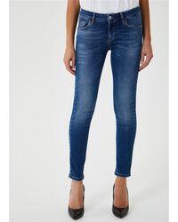 Liu Jo Jeans bottom up realizzato in una tela denim stretch secondo tecniche innovative totalmente ecosostenibile 95%co 4%pl 1%ea - Bleu
