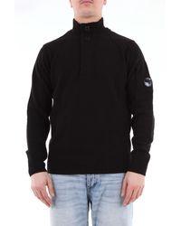 C P Company Camisa de color liso cp company con botones y cremallera - Negro